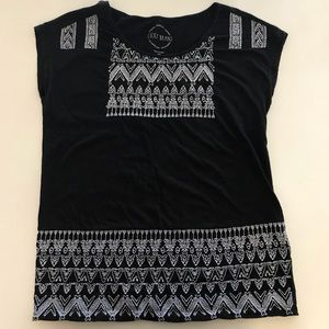 Lucky Brand Embroidered Tee XS